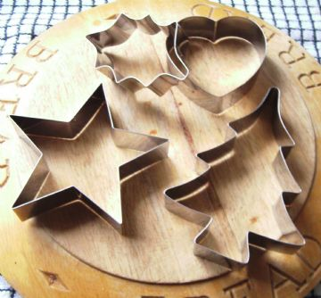 Large Tala Christmas Cookie Cutter Set Star Holly Tree Heart